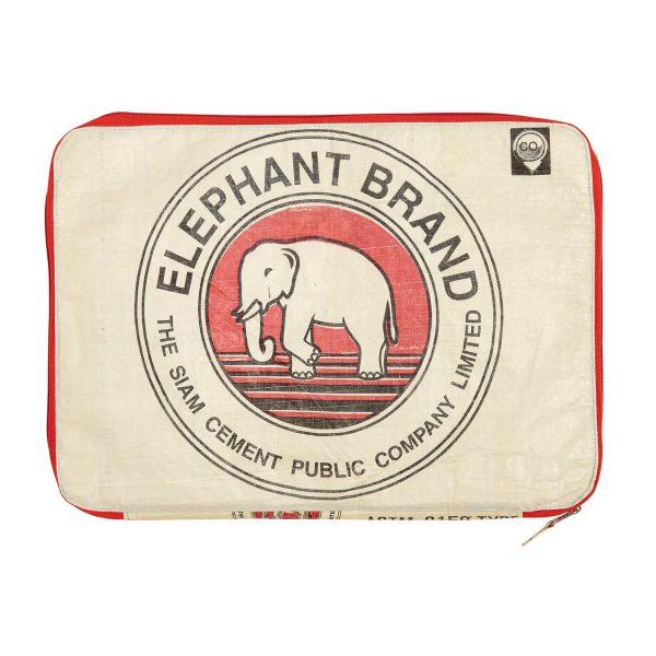 Elephant Branded-Laptop Case Original-Red Zip