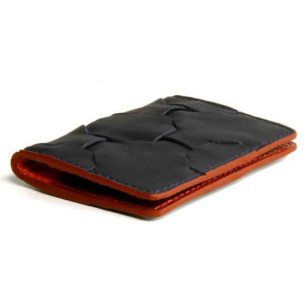 E&K-Fire and Hide Cardholder-Navy and Red