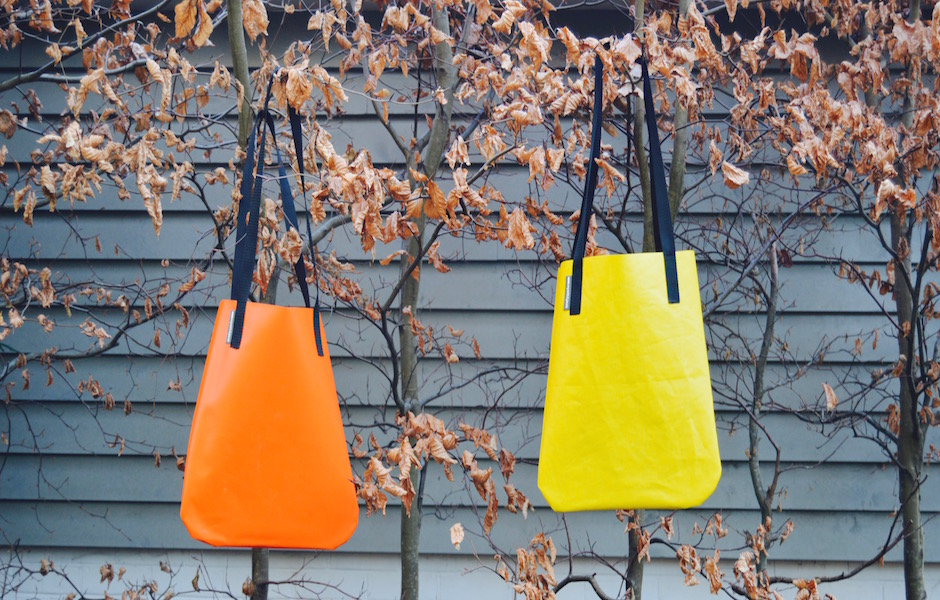 Wyatt and Jack-Bouncy Castle Tote-Yellow and Orange