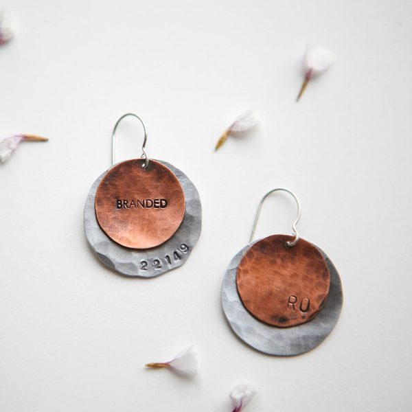 Branded Collective-Gifts-Metal Disk Earrings-9