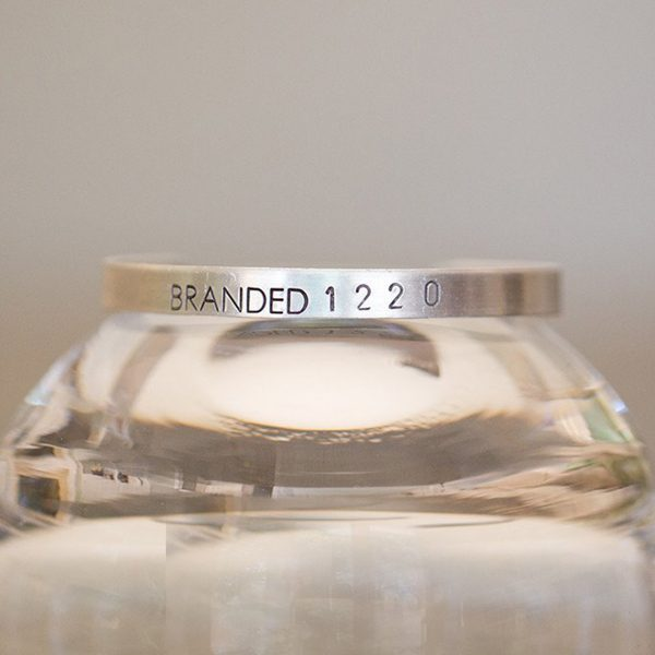 Branded Collective-Tiny Branded Cuff-Aluminium