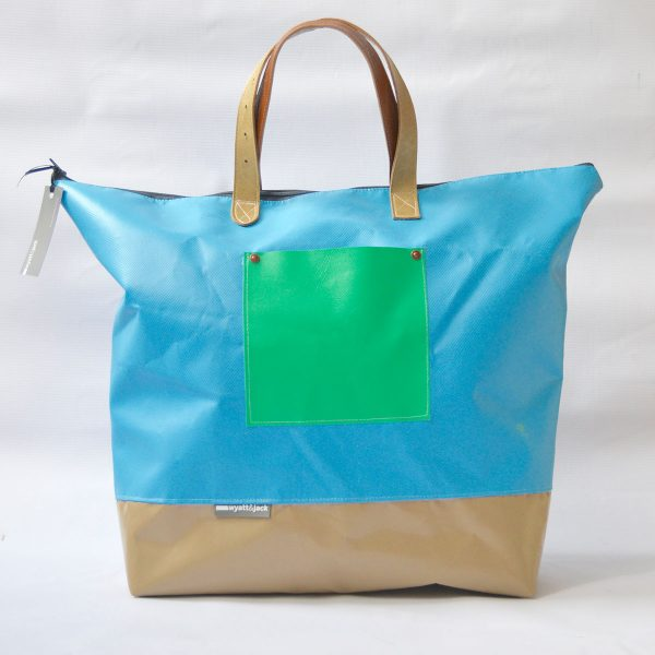 front view of bouncy castle oversized tote