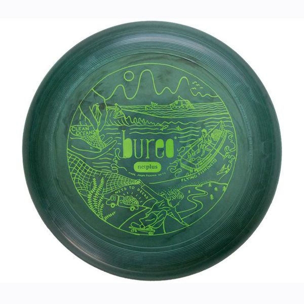green burro frisbee from above