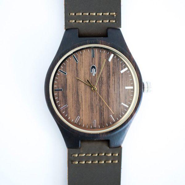 wild wood bosawas ebony and walnut ethically made watch