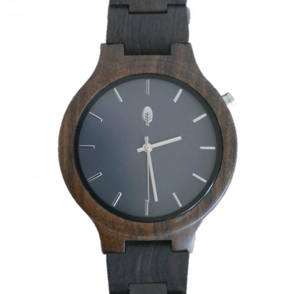 front view of wild wood Kinabalu watch made from reclaimed sandalwood