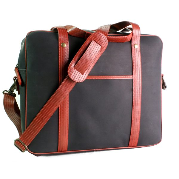 elvis and kresse ethically made firehose briefcase