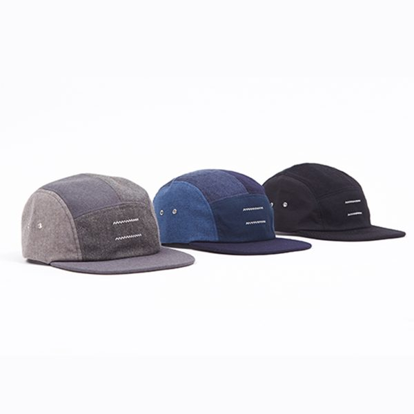 all 3 variants of Madmatter ethically made 5 patch cap on white background