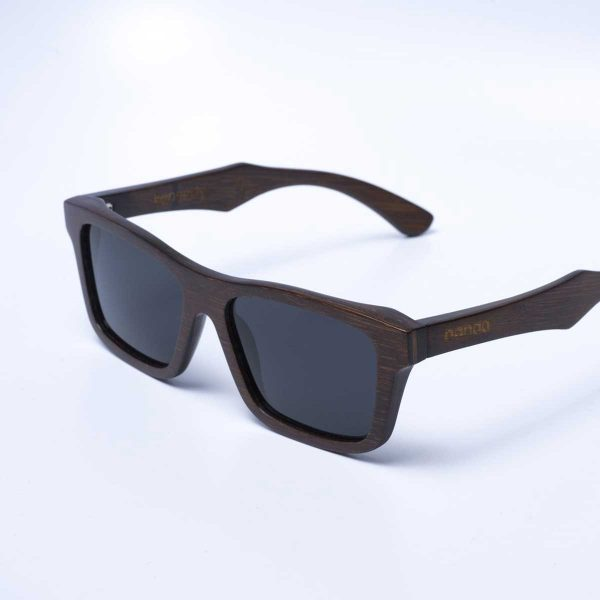 panda Kennedy sustainably made bamboo sunglasses in brown