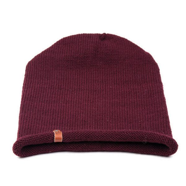 ethically made Burgundy Beau beanie hat from Granny's Finest