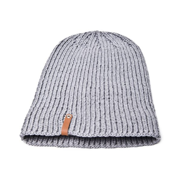 grey sam beanie hat. ethically made by grannies finest