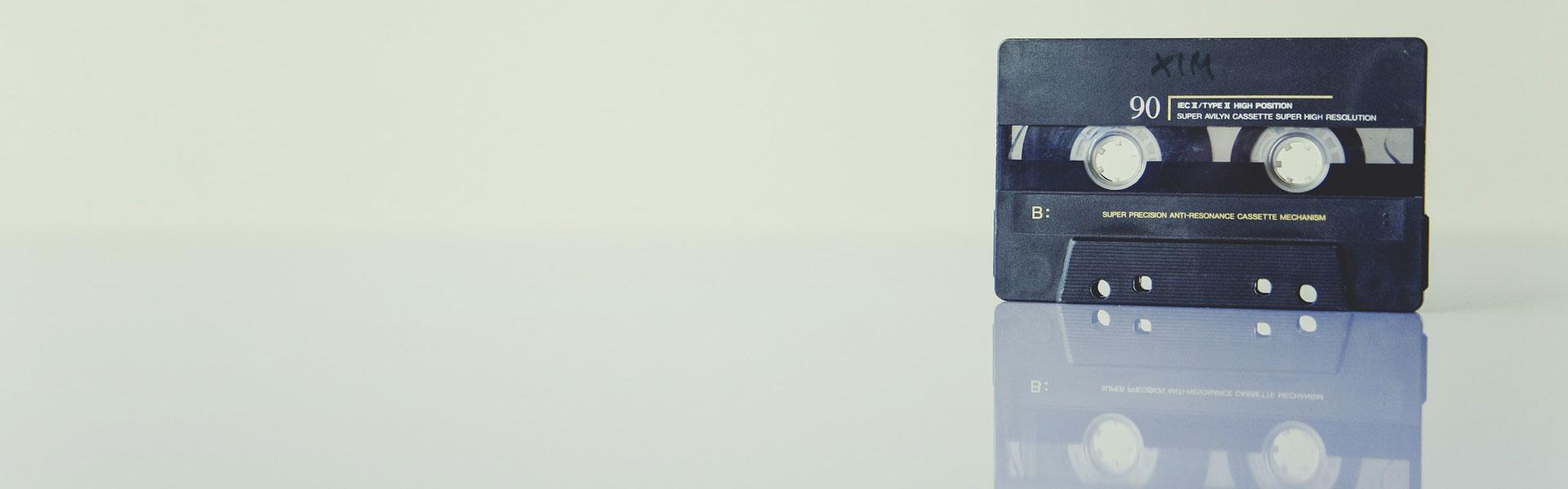 cassette tape - rehyphen header