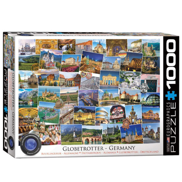 1000 pcs recycled cardboard jigsaw puzzle of the sights of germany