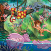 artwork from kids jungle book jigsaw puzzle made from recycled card