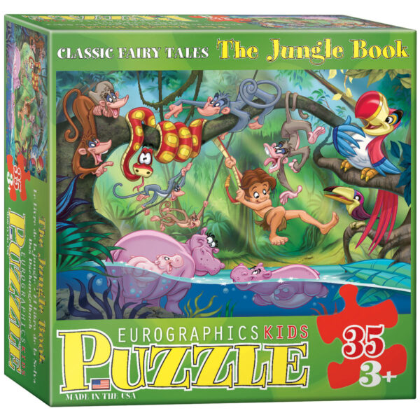 kids jungle book jigsaw puzzle made from recycled card